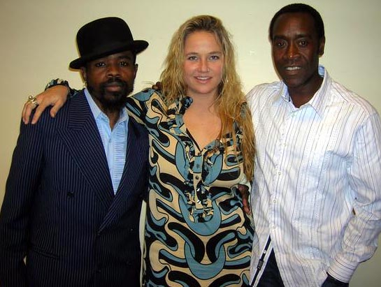 Marcel Diallo, Sterling and Don Cheadle