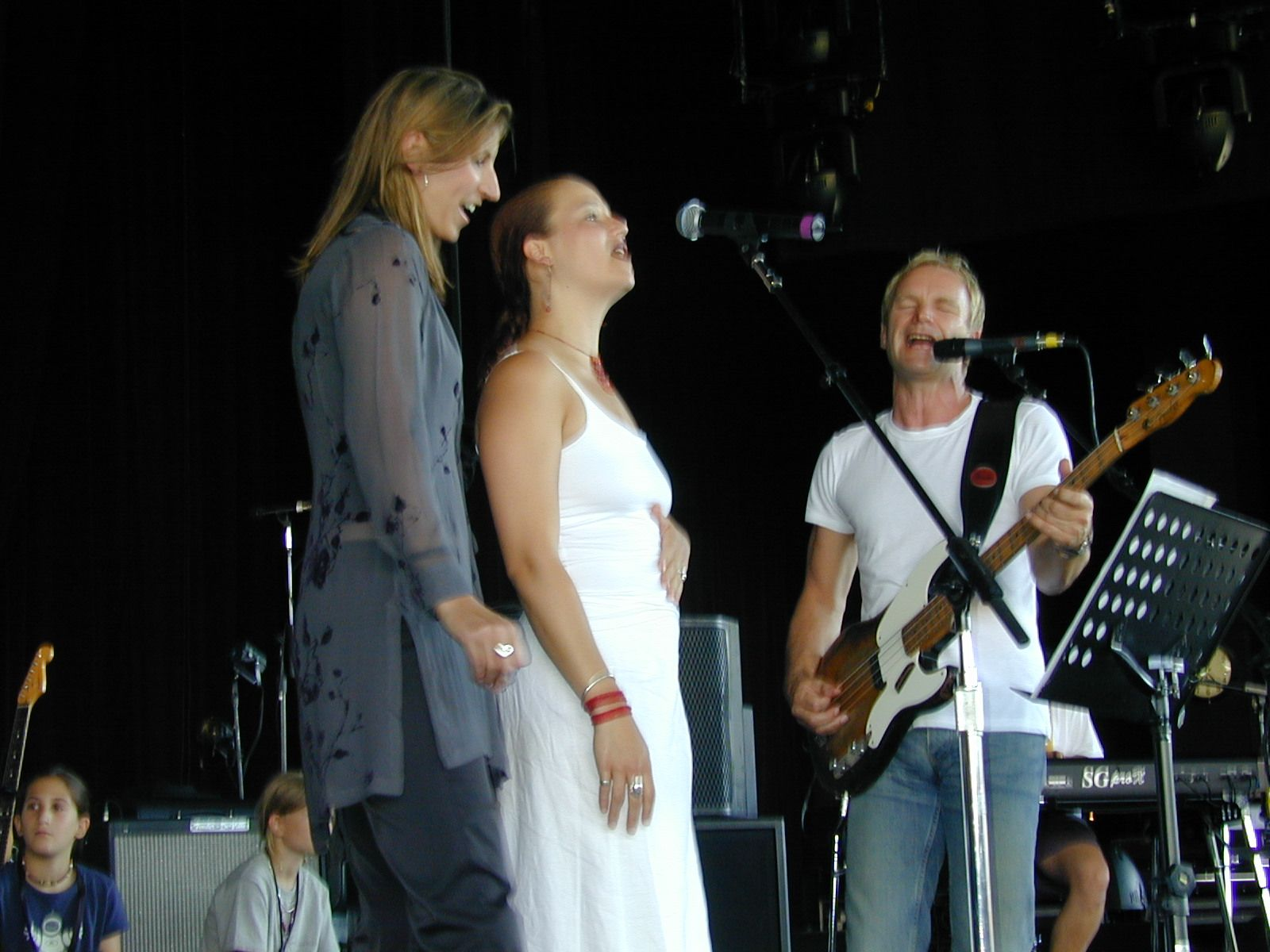 On Stage with Sting, Concord Pavilion