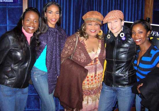 With the cast of The Color Purple