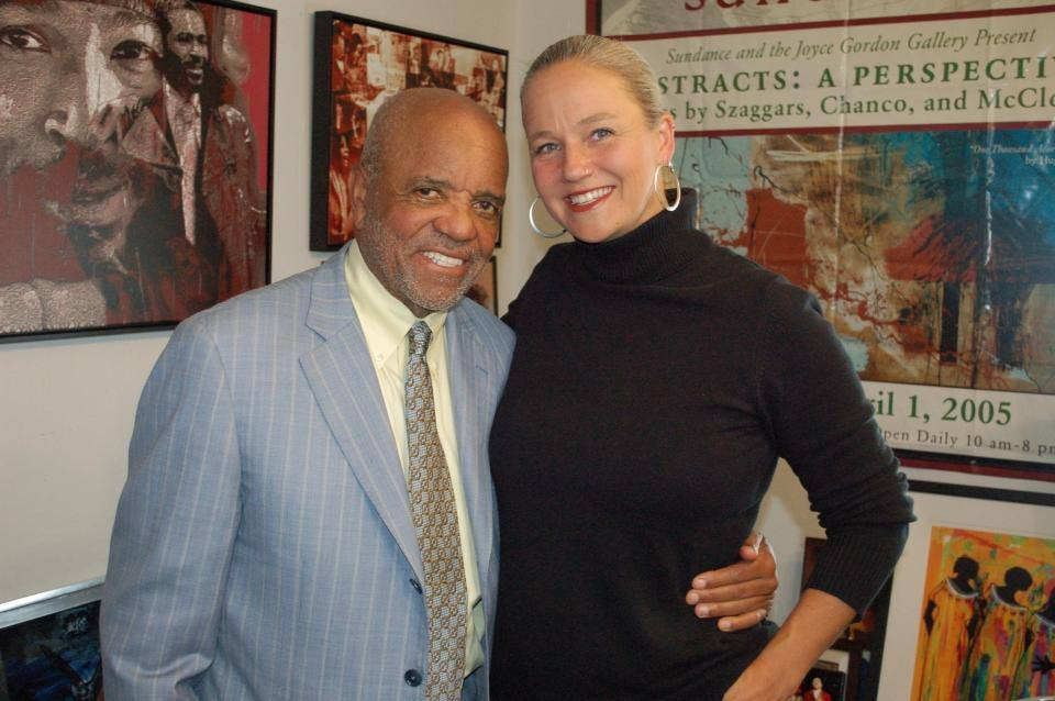 Sterling and Barry Gordy at Joyce Gordon's Gallery