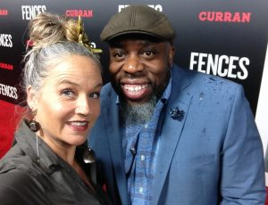 Sterling and Big Russ at Denzel Washington's Bay Area Premiere of FENCES