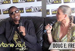 Sterling James and Legend Doug E. Fresh